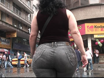 Candid latin ass milf
